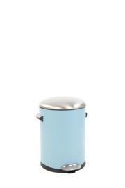 Belle Deluxe pedaalemmer, EKO licht blauw/ deksel mat RVS - 5 liter