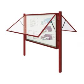"vitrine ""2000"" vleugeldeur 1000x1350x75mm dubbelzijdig"