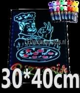 LED schrijfbord 300x400mm met 90 LED functies