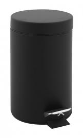 Pedaalemmer zwart - 3 liter