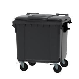 Container grijs vlak deksel - 770 liter