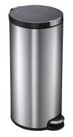 Artistic step bin, EKO mat RVS - 30 liter
