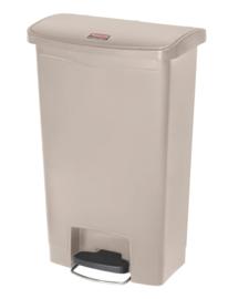 Slim Jim Step On container Front Step kunststof, Rubbermaid beige - 50 liter