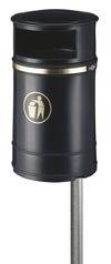 Afvalbak Nickleby zwart - 40 liter