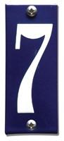 Emaille huisnummerbord HK-B7 40x100mm