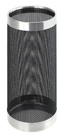 Geperforeerde paraplustandaard zwart chroom