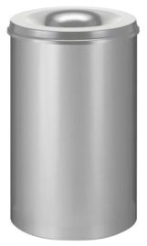 Vlamdovende papierbak grijs - 110 liter
