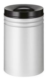 Vlamdovende papierbak grijs/zwart - 80 liter