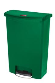 Slim Jim Step On container Front Step kunststof, Rubbermaid groen - 90 liter