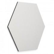Frameless whiteboard zeshoek 580mm metallic