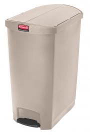 Slim Jim Step On container End Step kunststof, Rubbermaid beige - 90 liter