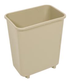 Rechthoekige afvalbak, Rubbermaid beige - 7,7 liter