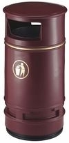 Afvalbak Copperfield bordeaux - 90 liter