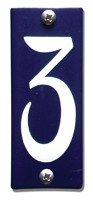 Emaille huisnummerbord HK-B3 40x100mm