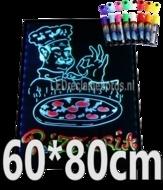 LED schrijfbord 600x800mm met 90 LED functies