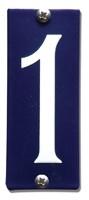 Emaille huisnummerbord HK-B1 40x100mm