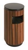 Afvalbak houtlook - 33 liter