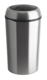 Ronde swing afvalbak RVS  - 75 liter