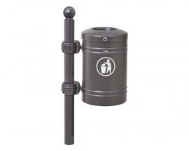Afvalbak Procity met Sphere top staal - 40 liter