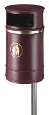 Afvalbak Nickleby bordeaux - 40 liter
