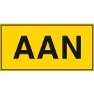 Waarschuwingsbord AAN 74x37mm