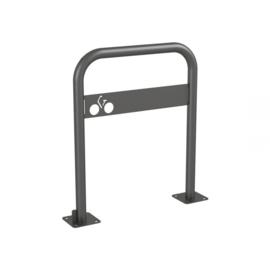 fietshoepel met fietssymboolplaat op voetplaat