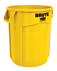 Ronde Brute container, Rubbermaid geel - 75,7 liter