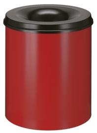 Vlamdovende papierbak rood/ zwart - 80 liter