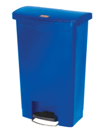 Slim Jim Step On container Front Step kunststof, Rubbermaid blauw - 50 liter