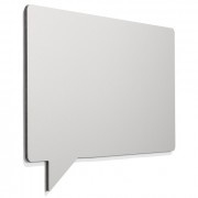 Frameless whiteboard tekstballon 880x1180mm metallic