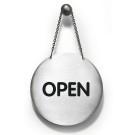 RVS pictogram omdraaipicto open/ gesloten rond 130mm