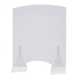Toonbank beschermwand - 60 x 67,5 cm - Staand - Transparant