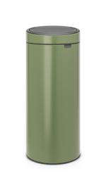 Touch bin met kunststof binnenemmer, Brabantia groen - 30 liter