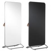 Chameleon Mobile dubbelzijdig whiteboard/ prikbord 890x1920mm wit/ frame grijs en prikbord zwart