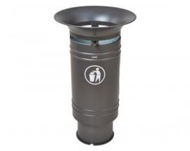Afvalbak Cergy staal - 60 liter