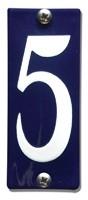 Emaille huisnummerbord HK-B5 40x100mm