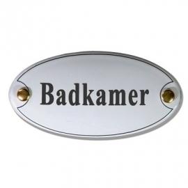Emaille naamplaatje Badkamer