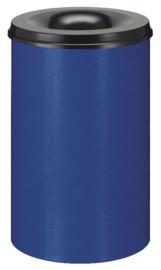 Vlamdovende papierbak blauw/ zwart - 110 liter