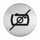 RVS pictogram foto's maken verboden verboden rond 83mm