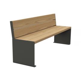 zitbank KUBE hout en staal 1800x450mm
