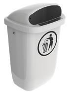 Afvalbak DIN-PK grijs - 50 liter