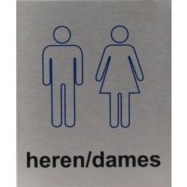 RVS pictogram heren/dames 100x120mm