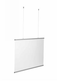 Klantenscherm Hangend - 100x70 cm - Transparant