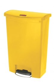 Slim Jim Step On container Front Step kunststof, Rubbermaid geel - 90 liter