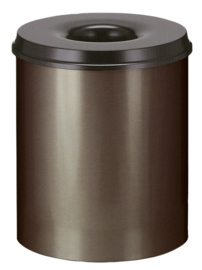 Vlamdovende papierbak bruin/ zwart - 80 liter