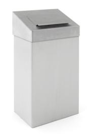 Afvalbak met hygiënische top mat RVS - 18 liter