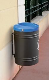 Afvalbak Procity staal wandbevestiging - 40 liter