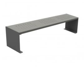 zitbank KUBE staal 1800x450mm