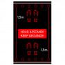 Vloermat Houd afstand - 98 x 150 cm - Vinyl