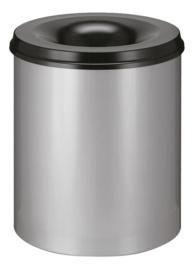 Vlamdovende papierbak aluminiumgrijs/ zwart - 80 liter
